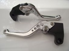 Triumph DAYTONA 675 (06-15), CNC levers short silver/chrome adjusters, F35/T333